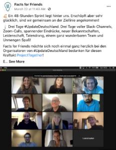 Screenshot vom Social Media Post von UpdateDeutschland